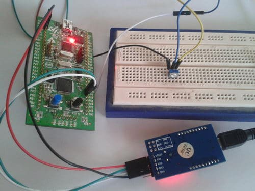 Multichannel ADC using DMA on STM32