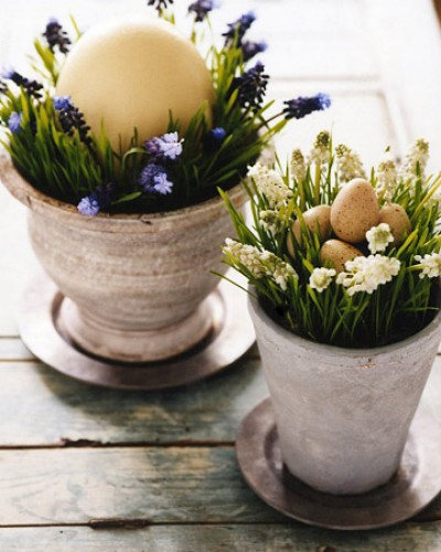 MS Easter pots e1302259506834 Easter Decorating Ideas