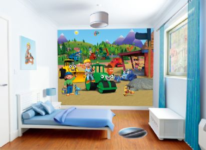 walltastic bob the builder muralekm411x300ekm. 53 p Decorate A Childs Room On A Budget