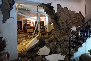 Harsh Earthquake in Ischia Isle in the everning
