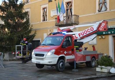 Ferrara, festa della Befana con i Vigili del Fuoco, Fiammeblu Luca Stella
