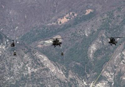 Intervento elicotteri