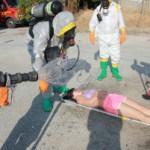 decontaminazione vittima