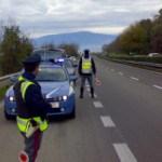Polizia Stradale – gestione traffico in autostrada per incidente