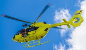 L'elicottero Airbus H145  I-MAKE che ha prestato servizio all'elibase di Trento in sostituzione temporanea di alcuni velivoli in manutenzione: Foto Aersud Elicotteri