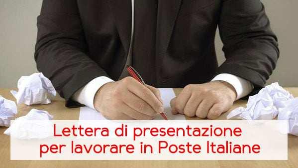 Esempio lettera di presentazione per lavorare in Poste Italiane