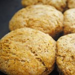 Whole Wheat Vegan Pumpkin Biscuits