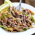 Spicy Vegetable Peanut Soba Noodles