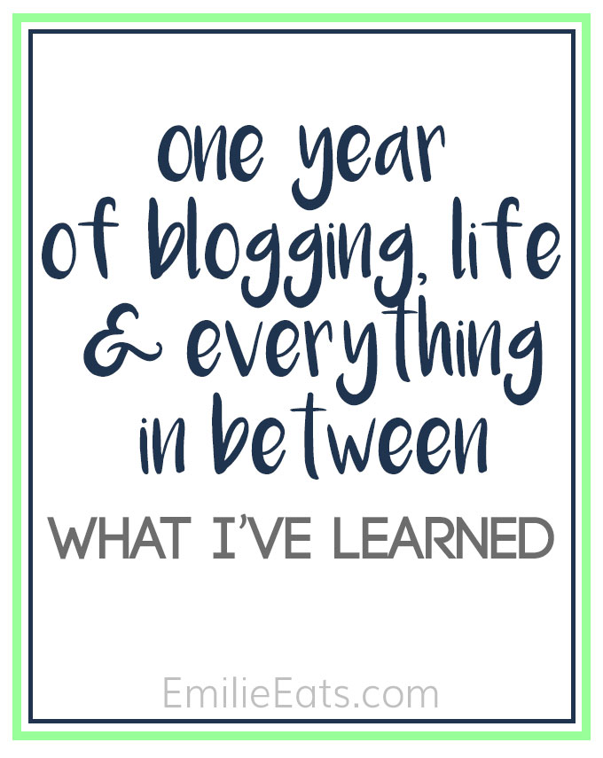 I'm recapping what I've learned in one year of blogging, what I struggled with personally, & some reader favorite recipes!
