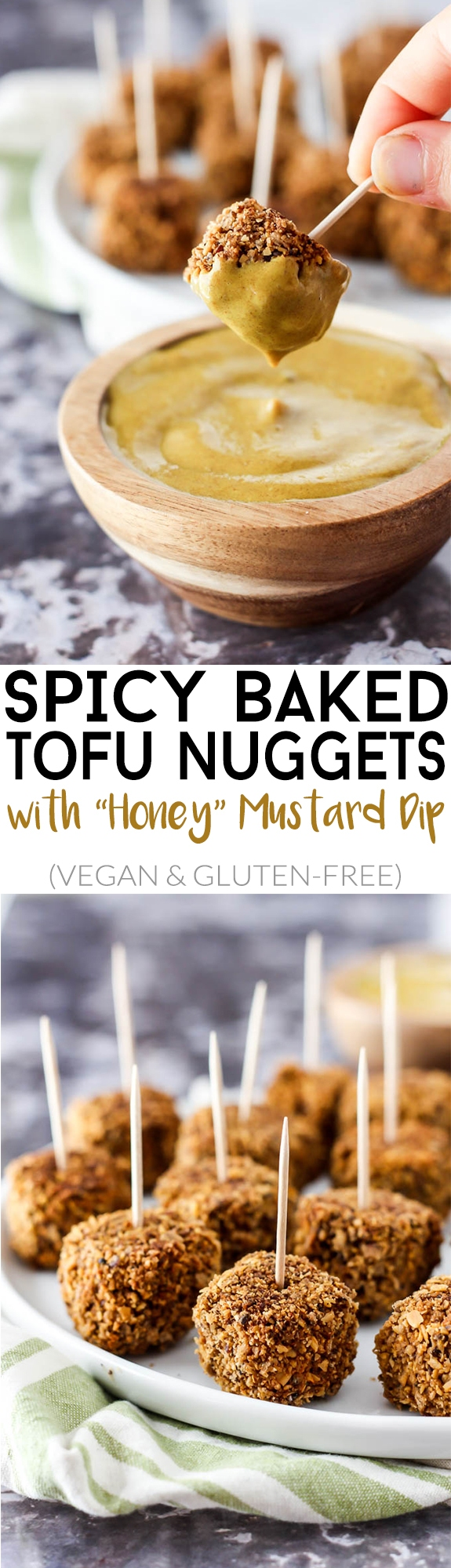 Crispy, bite-sized & perfectly spicy, these Baked Tofu Nuggets with ...