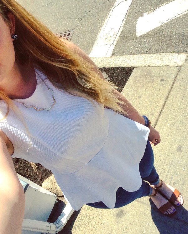 Here is how I styled the Slate chevron necklace!