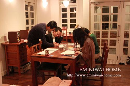 EMINIWAI+event 第7回ペン字教室
