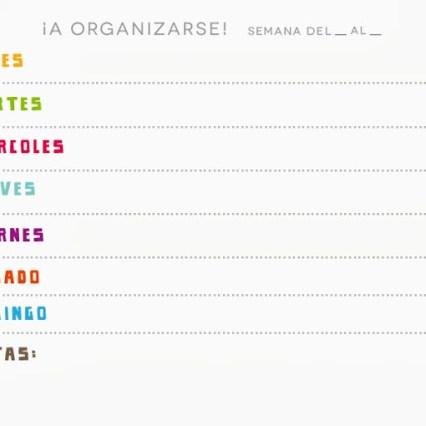 Organizador semanal Wacapaka