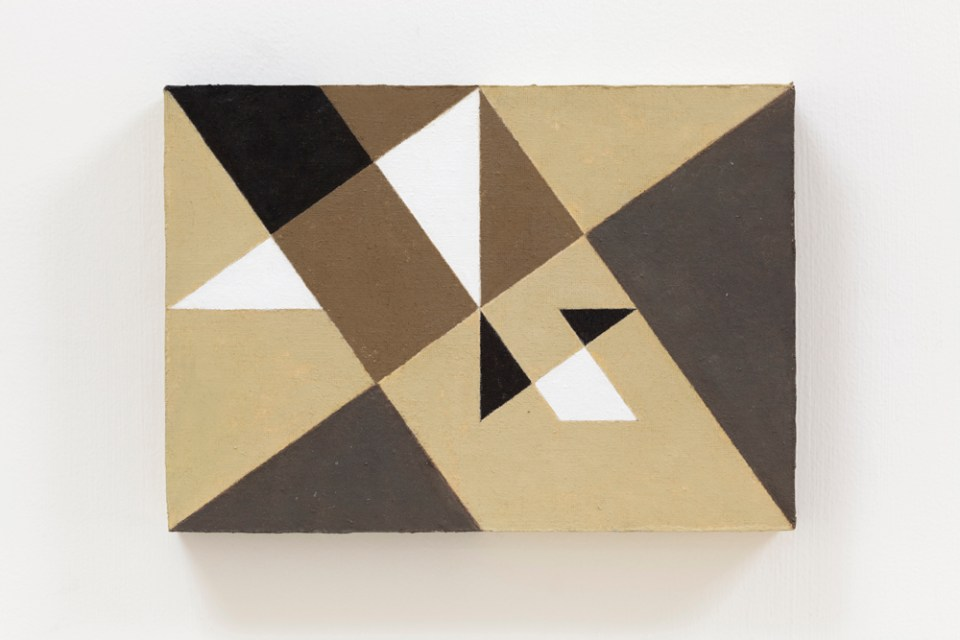 NATALIE DOWER Square Root 2 no 2, 2010, oil on canvas on wood, 17 x 24cm