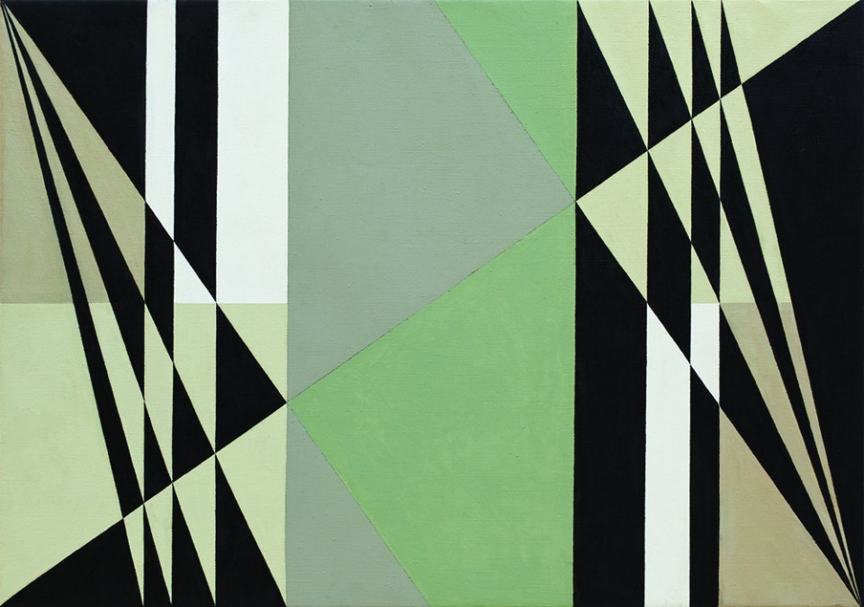 NATALIE DOWER Egalites No. 1, 2011, oil on canvas, 61 x 86cm