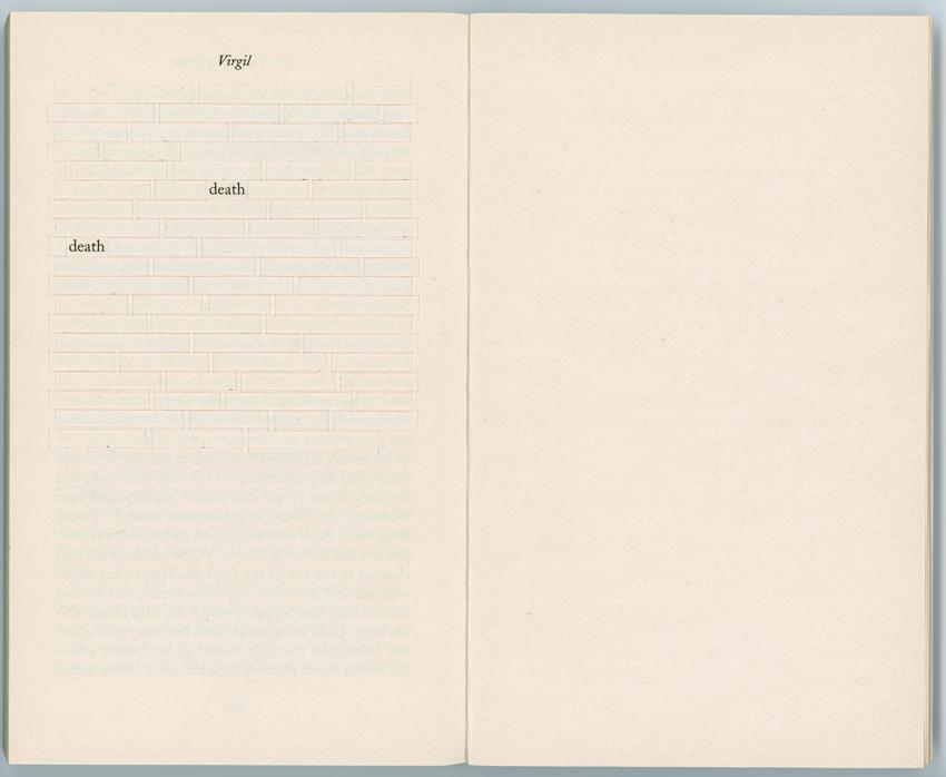 CAROLYN THOMPSON Til death do us part, 2014, found book with woven leaf, 18 x 21.5cm