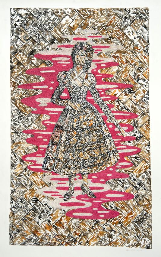 DENISE DE CORDOVA Spanish Eva, 2014, mixed media on paper, 137.5 x 85cm