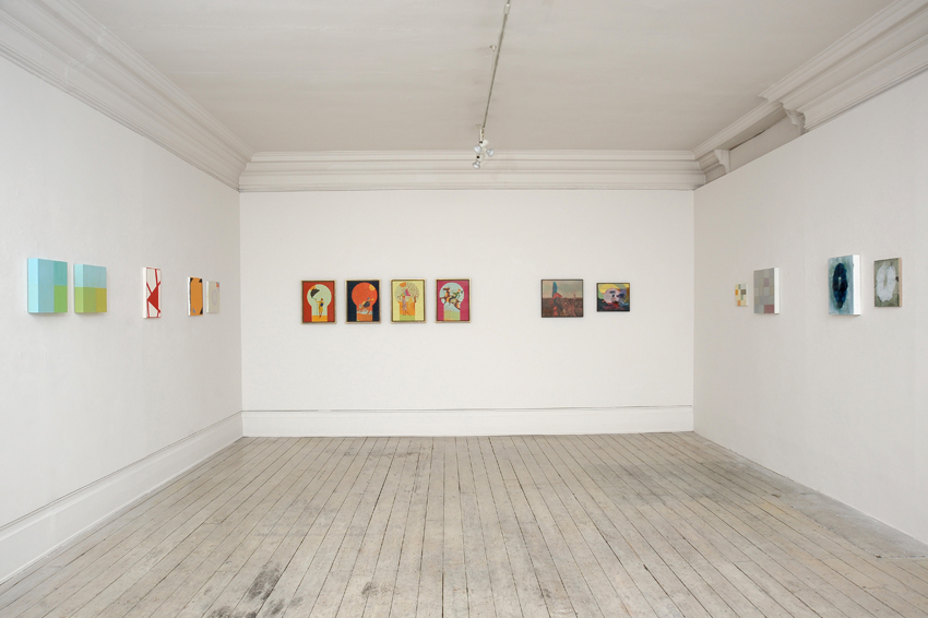 Installation view of Panel Paintings 2, 2014