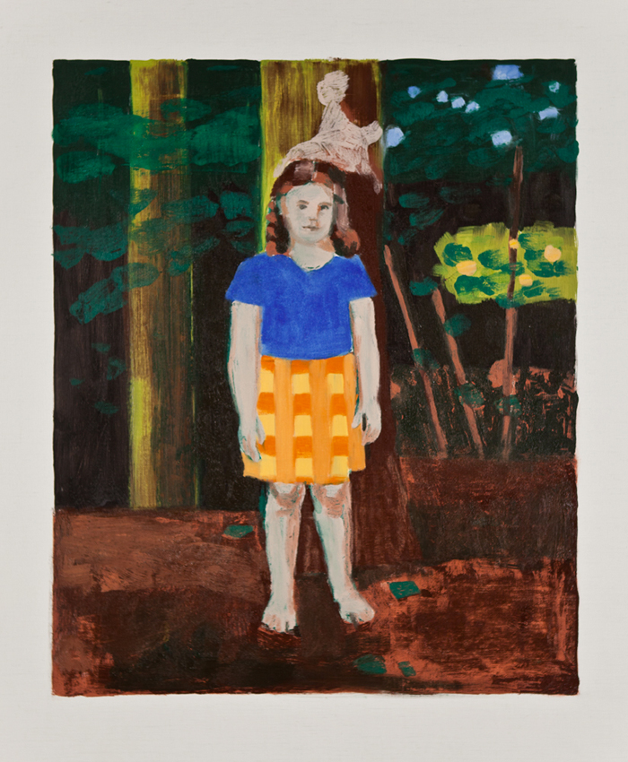 PETER RASMUSSEN Forest: Girl in Forest, 2011, oil on canvas, 97 x 81.5cm