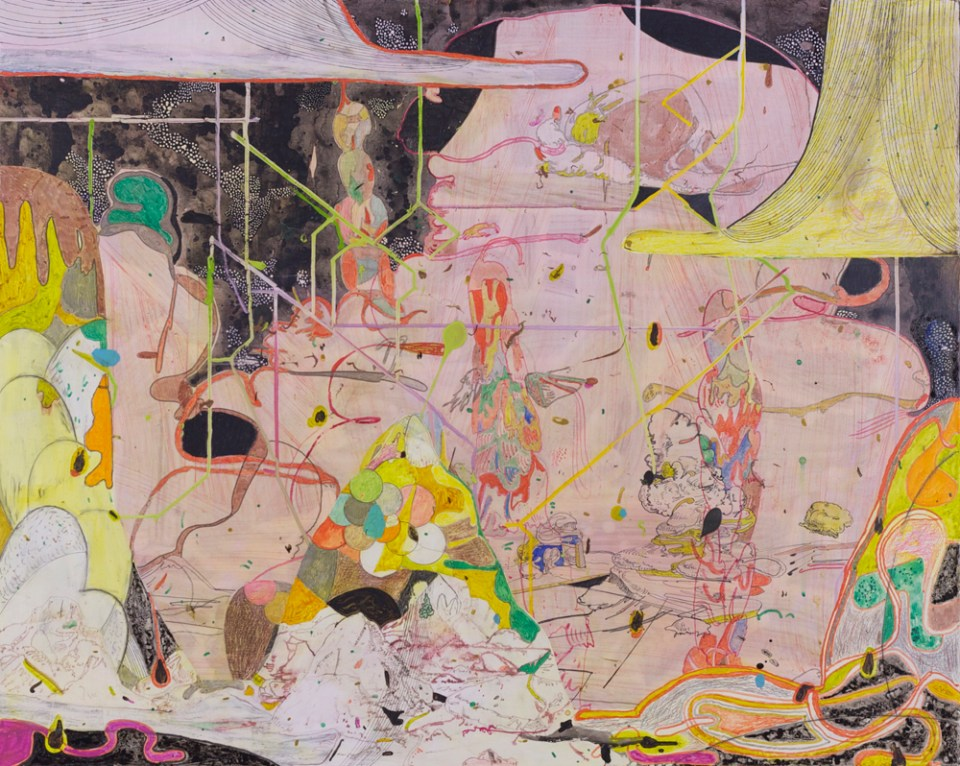 GRAEME TODD Mount Withinland, 2015, mixed media on panel, 80 x 100cm
