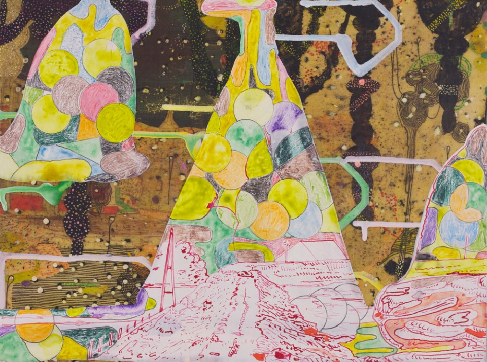 GRAEME TODD The View From Now Here, 2015, mixed media on panel, 22.5 x 30cm
