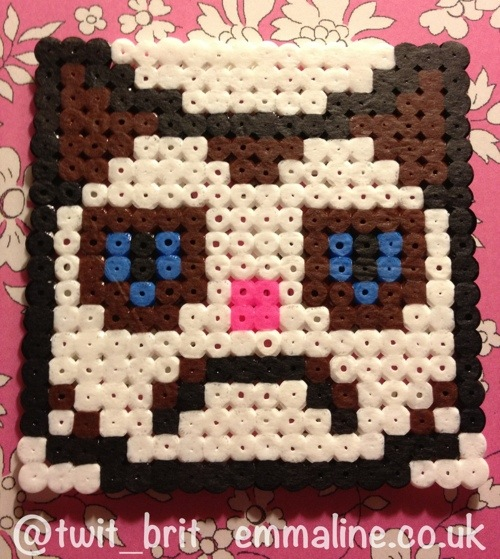 grumpy cat hama bead coaster by @twit_brit at emmaline.co.uk