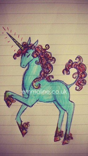 Cool drawing of a unicorn