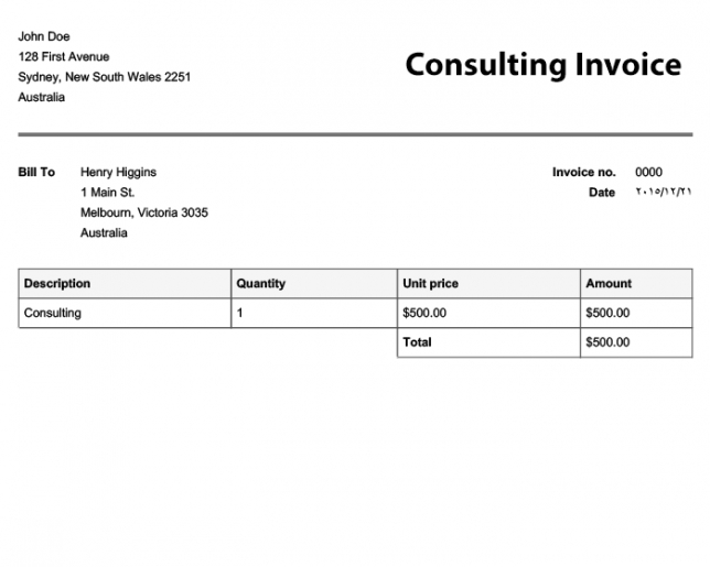 Free Invoice Templates Online Invoices Sole Trader Invoice