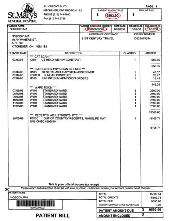 Hospital Bill Template Sample Medical Invoice Medical Invoice