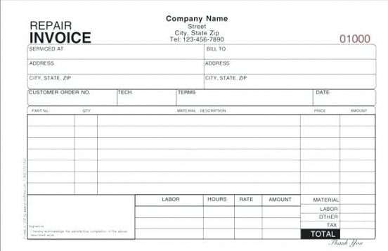 Hvac Invoice Forms Service Invoice Template Free Invoice Template