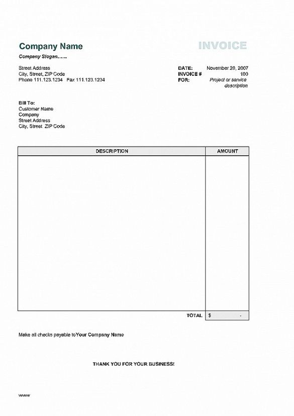 Invoice Template New Zealand New Simple Invoice Template For Mac