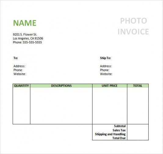 Sample Photography Invoice Template Invoice Pinterest - photography invoice template