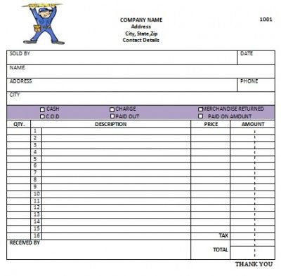 Electrical Contractor Invoice Template - electrical contractor invoice template