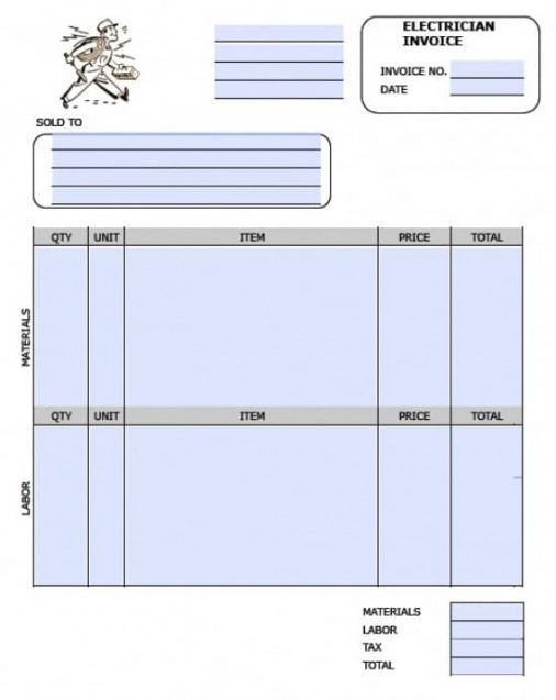 Free Electrician Invoice Template Excel Pdf Word (doc - electrical contractor invoice template