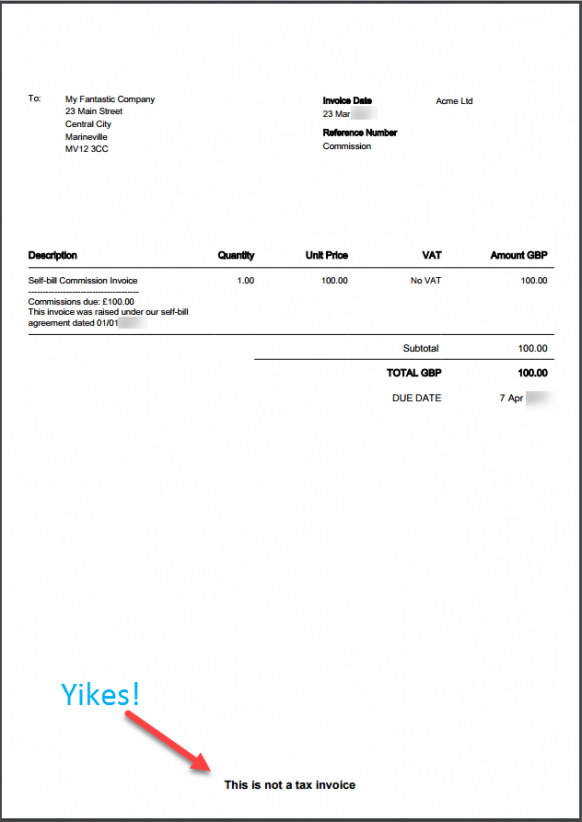 Self-Billing  Raising Non-Vat Invoices In Xero \u2013 Caseron Cloud Non