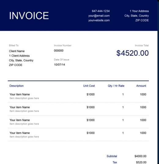 Free Notary Public Invoice Template Freshbooks Notary Invoice