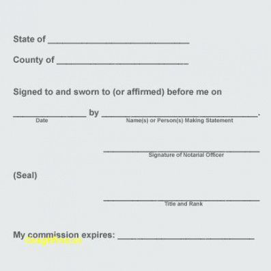 Notary Acknowledgement Template