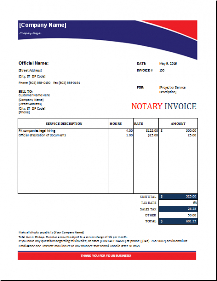 Pin By Alizbath Adam On Microsoft Excel Invoices Pinterest Notary