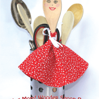 Make Mom!! Wooden Spoon Puppets!