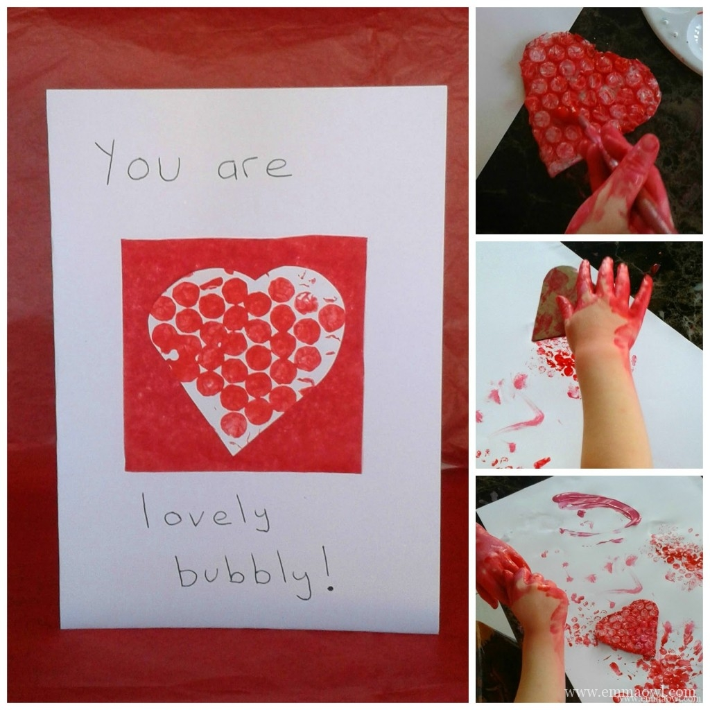 lovely bubbly Valentines craft for children