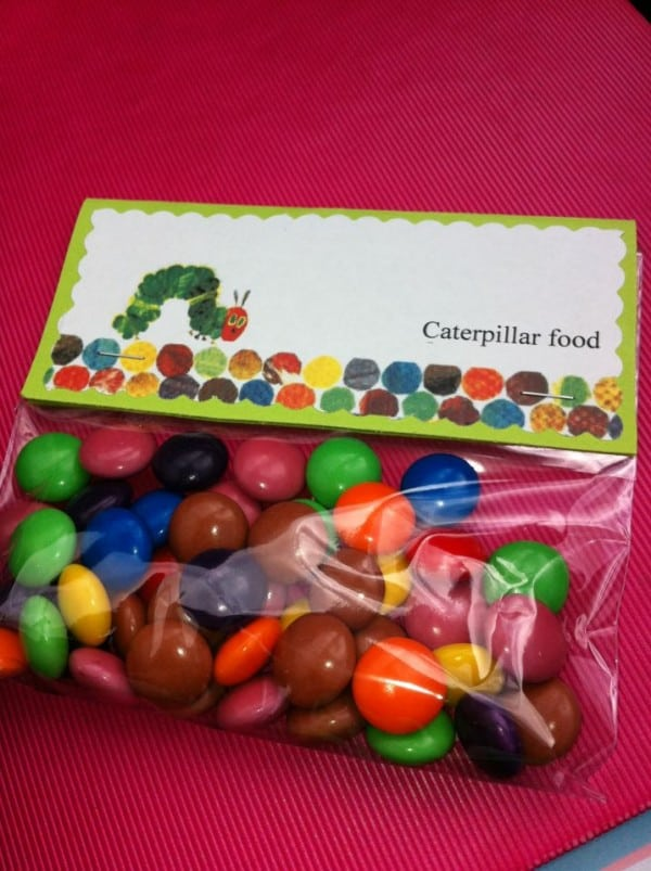 Hungry Caterpillar birthday favors