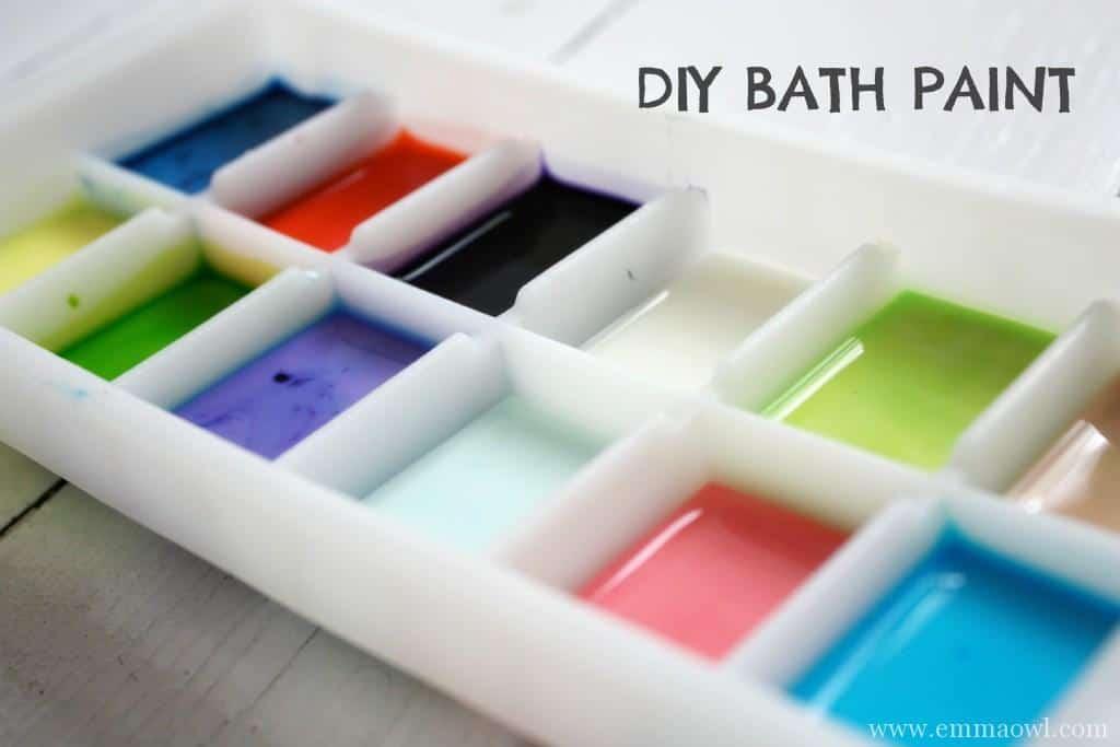 DIY Bath Paint for children. Such fun