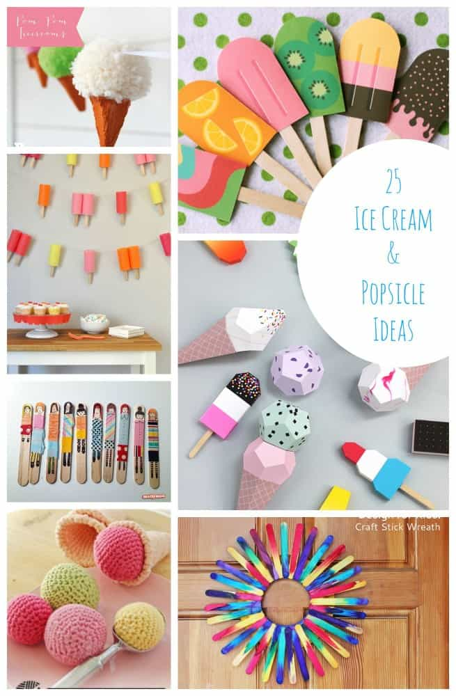 25 Cool Summer Popsicle And Ice Cream Crafts Emma Owl