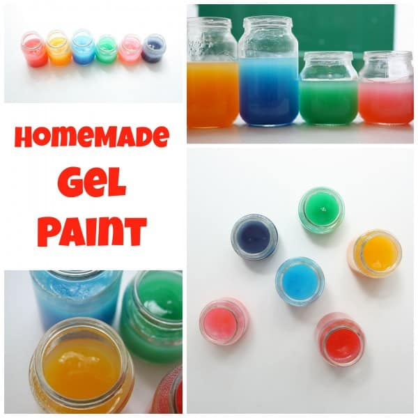 Homemade Gel Paint. Great texture to paint with - easy recipe!