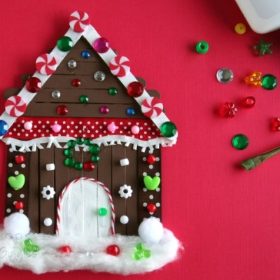 kids gingergbread house craft