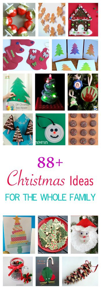 88+ Christmas Ideas for the whole family - family traditions, kids art and craft, play ideas, decorations, cards, gifts, wrapping, Christmas cooking and more!!
