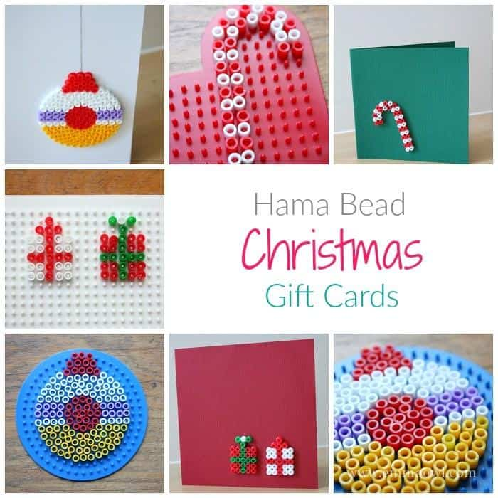 Hama Bead Christmas Gift Cards