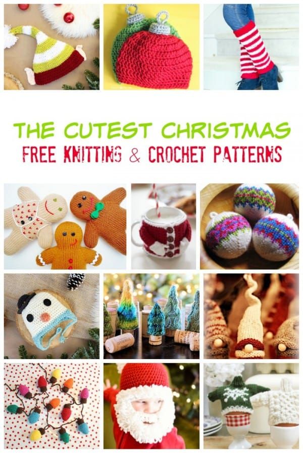 Easy Patterns To Knit Crochet At Christmas Pelitabangsa