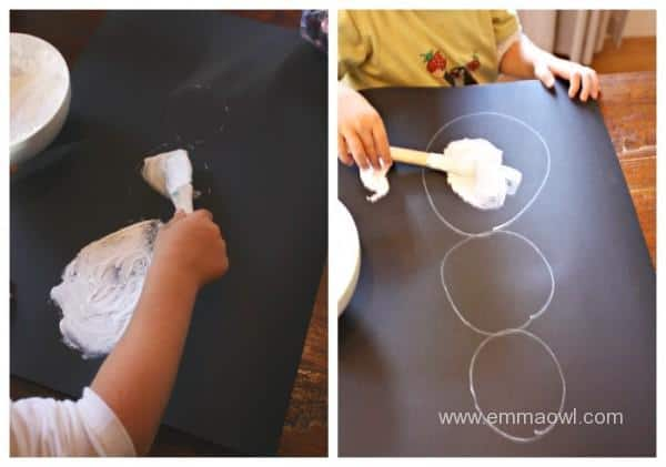 making-puffy-paint-snowmen
