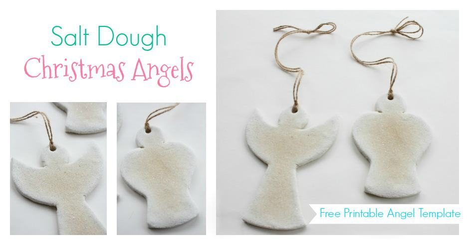 Christmas Salt Dough Angel Ornaments - PELITABANGSA CA - angels templates free